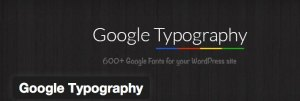 Google Typography PlugIn