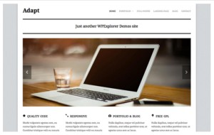 Adapt Business Portfolio WordPress Theme