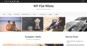 WP Flat White WordPress Theme