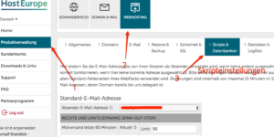 Hosteurope und Contact Form 7