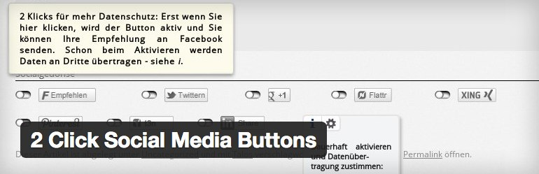 Click Social Media Buttons Plugin