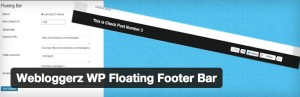 Webloggerz WP Floating Footer Bar