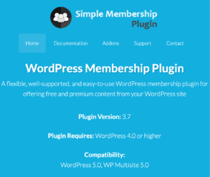 Simple WordPress Membership PlugIn